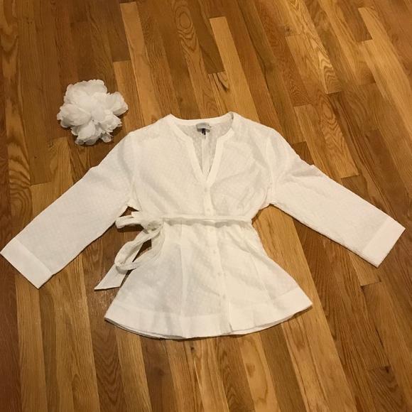 4a3ef9bdcc6eea Anthropologie Tops | Hd In Paris White Tie Waist Blouse | Poshmark